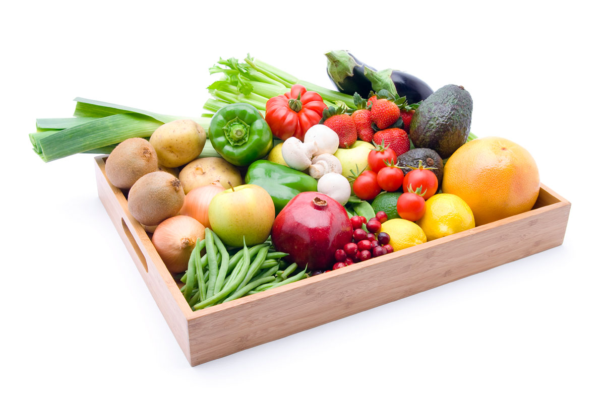 boxed fruits and veggies