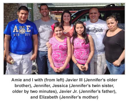 Wishkid Jennifer and family